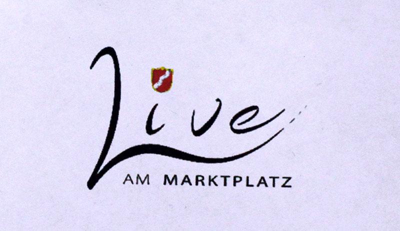Live Musik immer Samstags auf dem Marktplatz